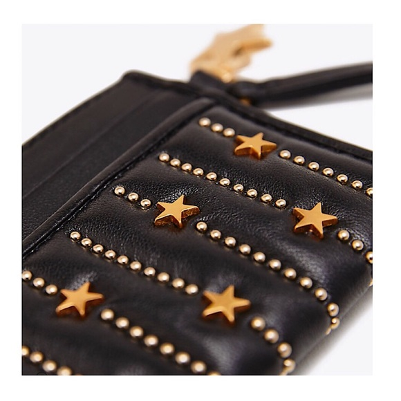 4754b3d7e02 TORY BURCH Fleming Star Stud Card Case NWT